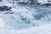 Gulfoss (Golden Falls) in Iceland in wintertime — Stock Photo