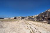 Greek Theatre ruins in Syracuse, Sicily — Stock Photo