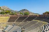Ruins of Greek Theatre - Teatro Greco - in Taormina, Sicily — Foto de Stock