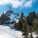 Cable ski lifts in Mayrhofen ski resort, Austria — Stock Photo #70090003