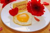 Romantic breakfast on valentine's day. — Zdjęcie stockowe
