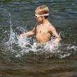 Boy playing in the water (02) — Stock Photo #62024425