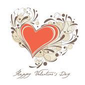 幸せなバレンタインデーのカード — ストックベクタ