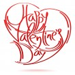 Happy Valentines Day card — Vector de stock  #62702407