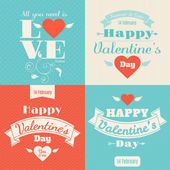 Happy Valentine's Day cards — Stockvektor