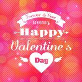 Heureuse saint valentin carte — Vecteur