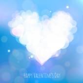 Happy Valentines Day card with stylized heart — Wektor stockowy