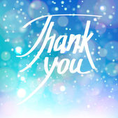 Thank you card with handwritten lettering — Stock Vector