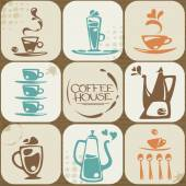 Coffee icons collection gathered together — Stock Vector