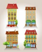 High detailed vector buildings. — Stok Vektör