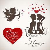 Valentine's Day elements — Vettoriale Stock