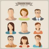 People characters — Stock Vector