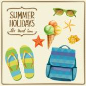 Vacation summer elements — Vecteur