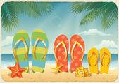 Fondo con elementos de vacaciones — Vector de stock