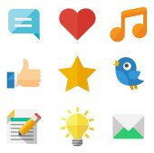 Communicative and social icons — Stock Vector