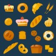 Bakery icons set — Stock Vector #67592103