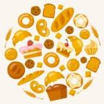 Bakery icons set — Stock Vector #67592105