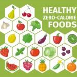 Healthy zero-calorie foods. — Stock Vector #69387555