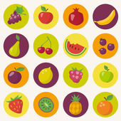 Fruits icons set — Stock Vector