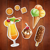 Summer food icons. — Stock Vector