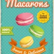 Macarons poster in vintage style — Stock Vector #71508915
