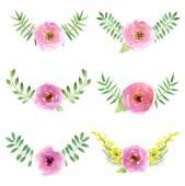 Diseño floral acuarela — Vector de stock