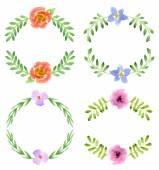 акварель цветочный дизайн — Cтоковый вектор