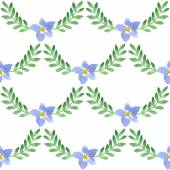 Aquarel bloemmotief — Stockvector