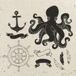 Nautical elements design. — Stock Vector #80528468