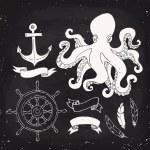Nautical elements design — Stock Vector #82200960