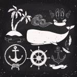 Nautical elements design — Stock Vector #82200962