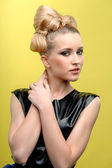 Young lady with blond hairstyle — Stock Photo