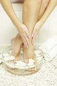 Woman spa pedicure — Stock Photo
