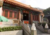 Three Saints Hall Sik Sik Yuen Wong Tai Sin Temple Religion Great Immortal Wong Prayer Kau CIm Insence — Stock Photo
