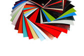 Color swatches laminated chipboard — Stock Photo
