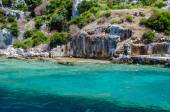 The ruins of the ancient city on the island of Kekova. Turkey — Stock Photo
