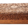 Wooden brown casket on white background — Stock Photo #61973285