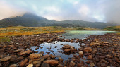 Lake Bombasel - The Lagorai massif — Stock Photo