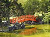Japanesse Garden Bridge — Stock Photo