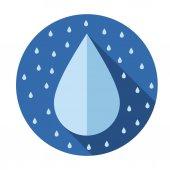 Drops flat icon — Stock Vector