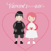 Valentine day couple — Stock Vector