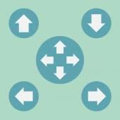 Green Arrows icon — Stock Vector