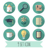Different 9 icons  set — Stock Vector