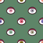 Nahtlose Muster mit Augen. — Stockvektor