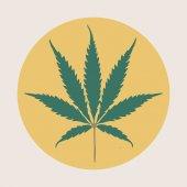Cannabis ikonen isolerade — Stockvektor