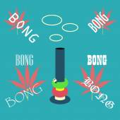 Bong för rökning ikon — Stockvektor
