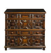 Old antique European chest of drawers — Stock Photo
