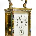 Brass carriage clock — Stock Photo #77419962