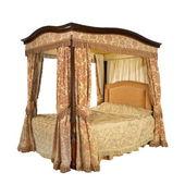 4 cama con dosel con aisladas con trazado de clip — Foto de Stock