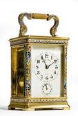 Brass carriage clock — Stock Photo